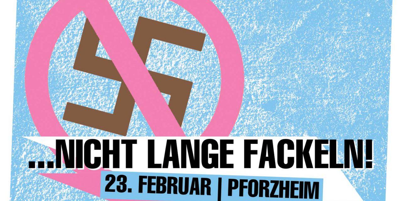 Gelungener antifaschistischer Protest gegen den Naziaufmarsch am 23. Februar in Pforzheim!