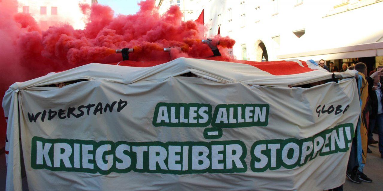 Demonstration gegen die Sicherheitskonferenz