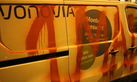 Vonovia-Auto markiert