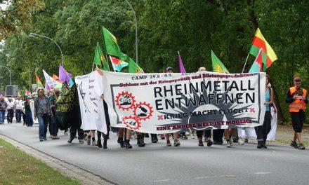 Rheinmetall entwaffnen Camp 2019 – Mobi-Video mit Antikriegs Theater