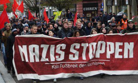 Vielfältige Aktionen gegen Nazis am 12.10.13 in Göppingen