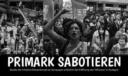 Kampagne & Aktionen gegen Primarkeröffnung in Stuttgart