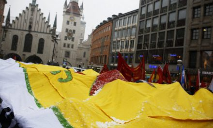 Stimmung gegen Kriegstreiber trotz Schnee und Kälte: Bericht zur Demo gegen die Sicherheitskonferenz 2018