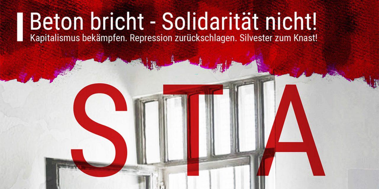 Kapitalismus bekämpfen. Repression zurückschlagen. Silvester zum Knast!