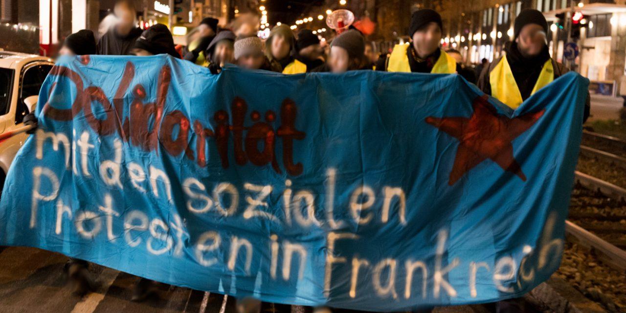 Internationale Solidarität mit den Gelbwesten in Frankreich!
