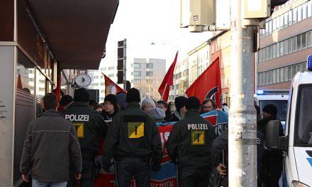 """Kundgebung gegen Beteiligung Rechter am """"Diesel-Protest"""""""