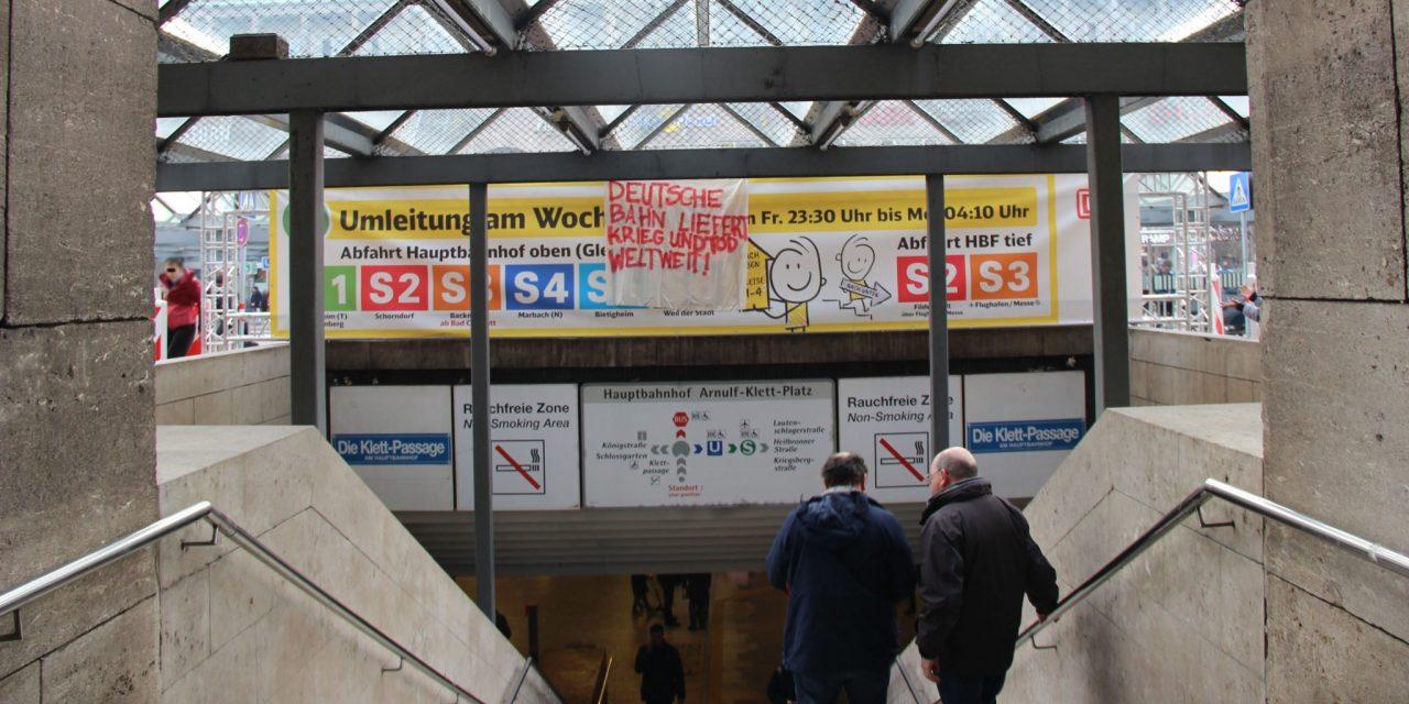 Aktion gegen die Deutsche Bahn