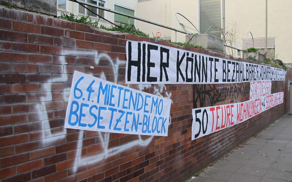 Aktionen gegen Leerstand und Aufwertung in Stuttgart-Süd