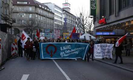 Demonstration zum internationalen Frauenkampftag