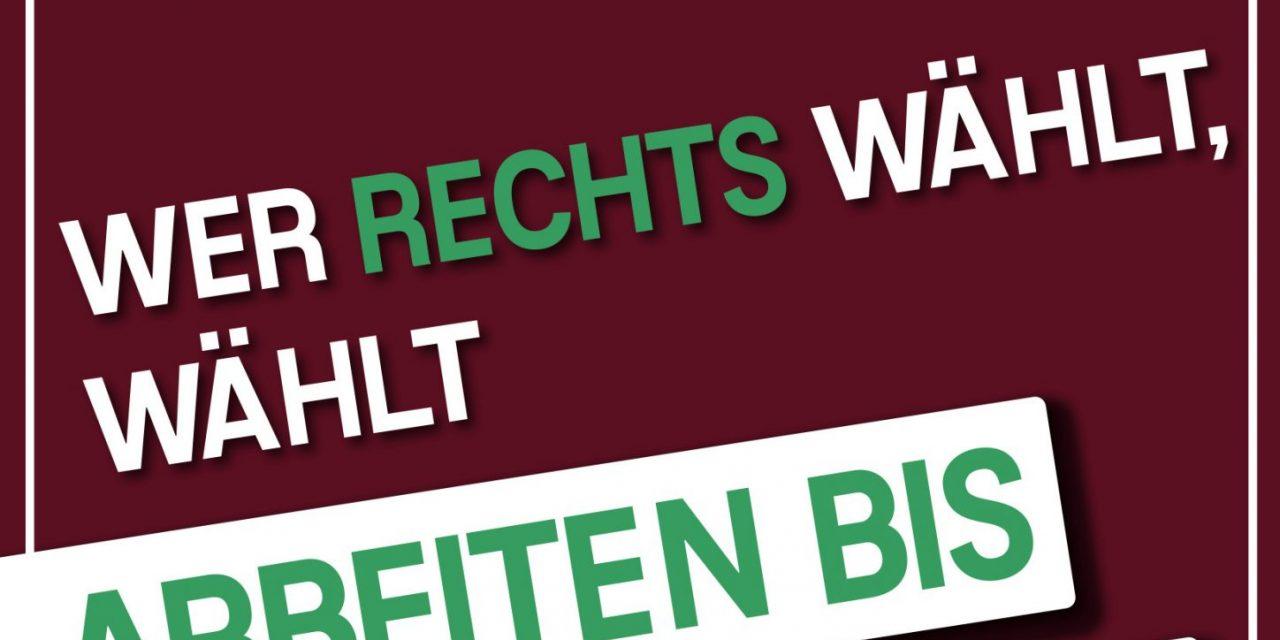 Rechts wählen löst keine Probleme – Plakatkampagne gestartet!