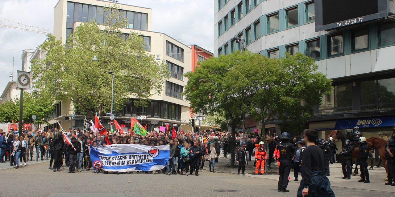 Großaufgebot der Polizei ermöglicht Naziaufmarsch in Pforzheim