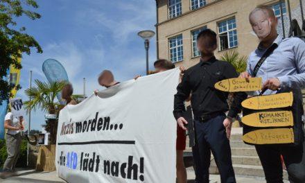 Nazis morden – Die AfD lädt nach! Künstlerische Inszenierung in Backnang
