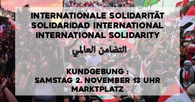 Aufruf zur Kundgebung am 2. November: Internationale Solidarität zeigen!