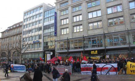 Kundgebung vor Landesgeschäftsstelle der Grünen