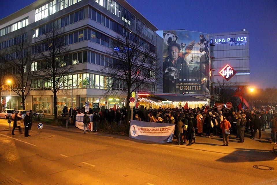Kundgebung vor der Stuttgarter FDP-Zentrale