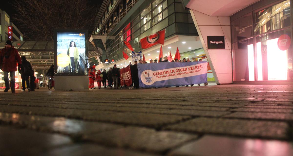 Proteste gegen Neujahresempfang der AfD mit Höcke