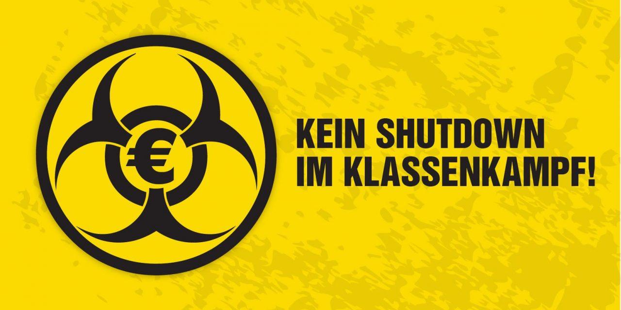 Kein Shutdown im Klassenkampf!