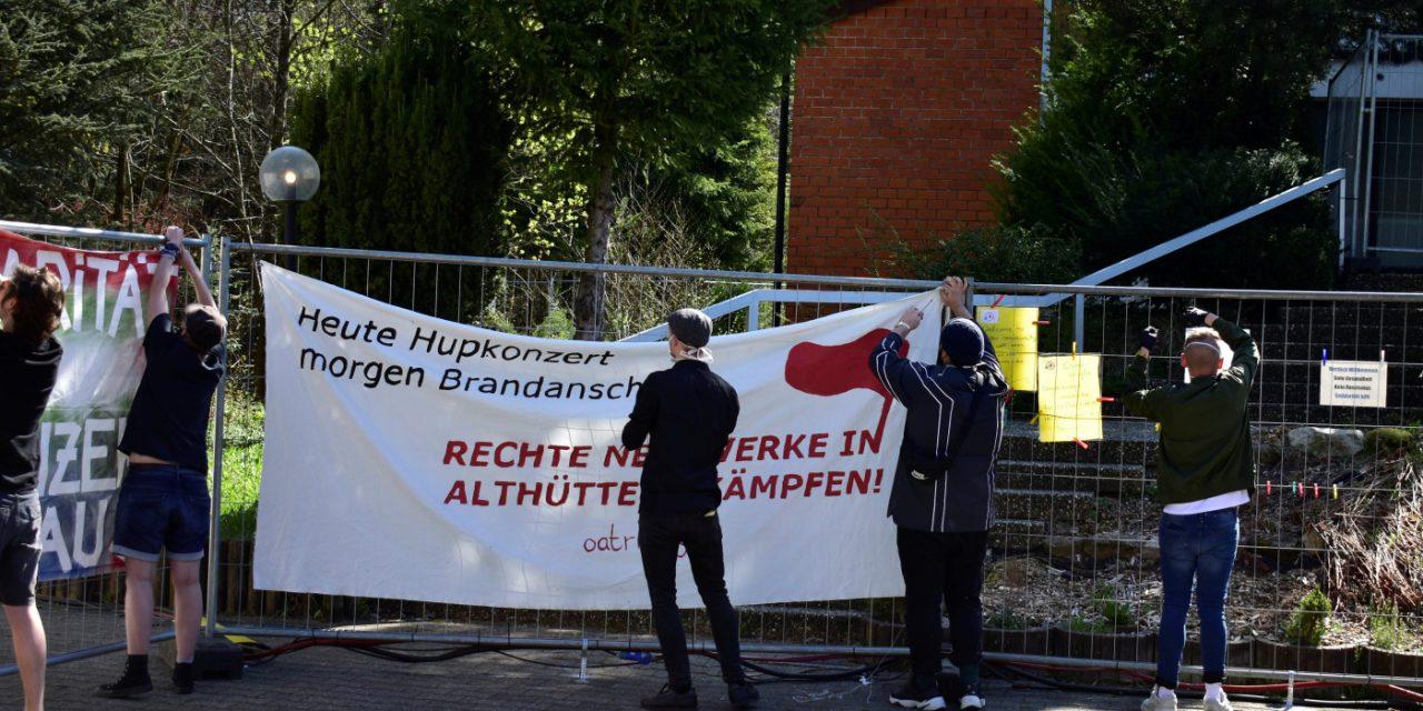 Aktion gegen rechte Stimmungsmache in Althütte-Sechselberg!