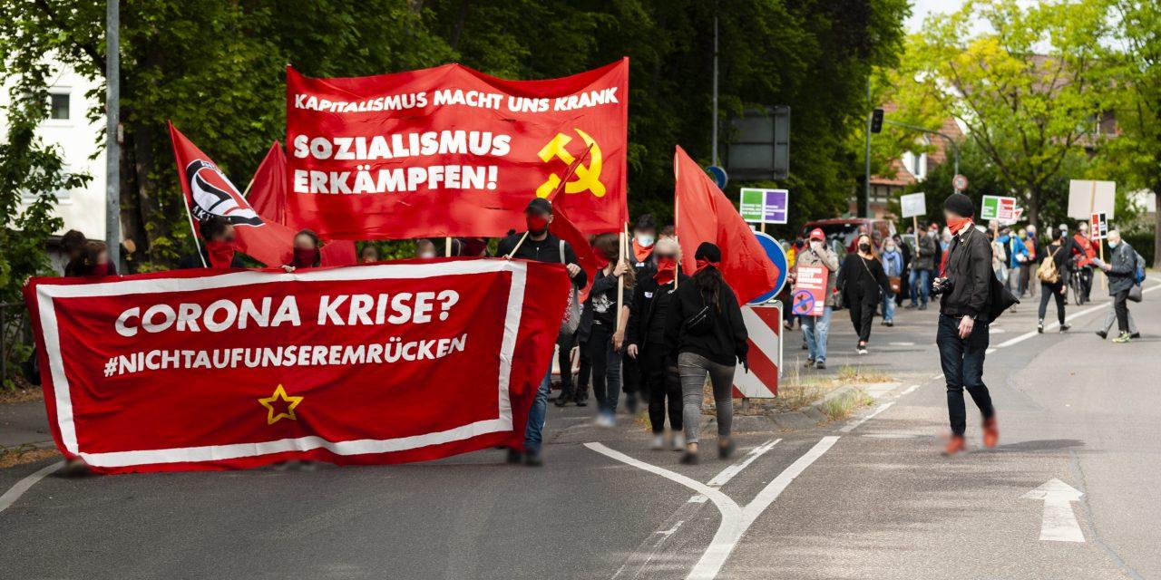 Unangemeldete 1. Mai Demonstration in Waiblingen