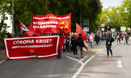 Unangemeldete 1. Mai Demonstration in Waiblingen