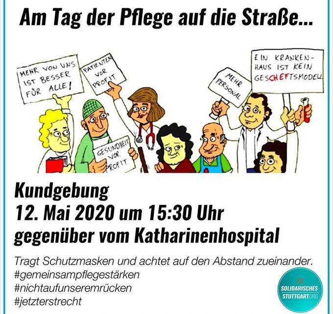 Am Tag der Pflege auf die Straße – Kundgebung am 12. Mai