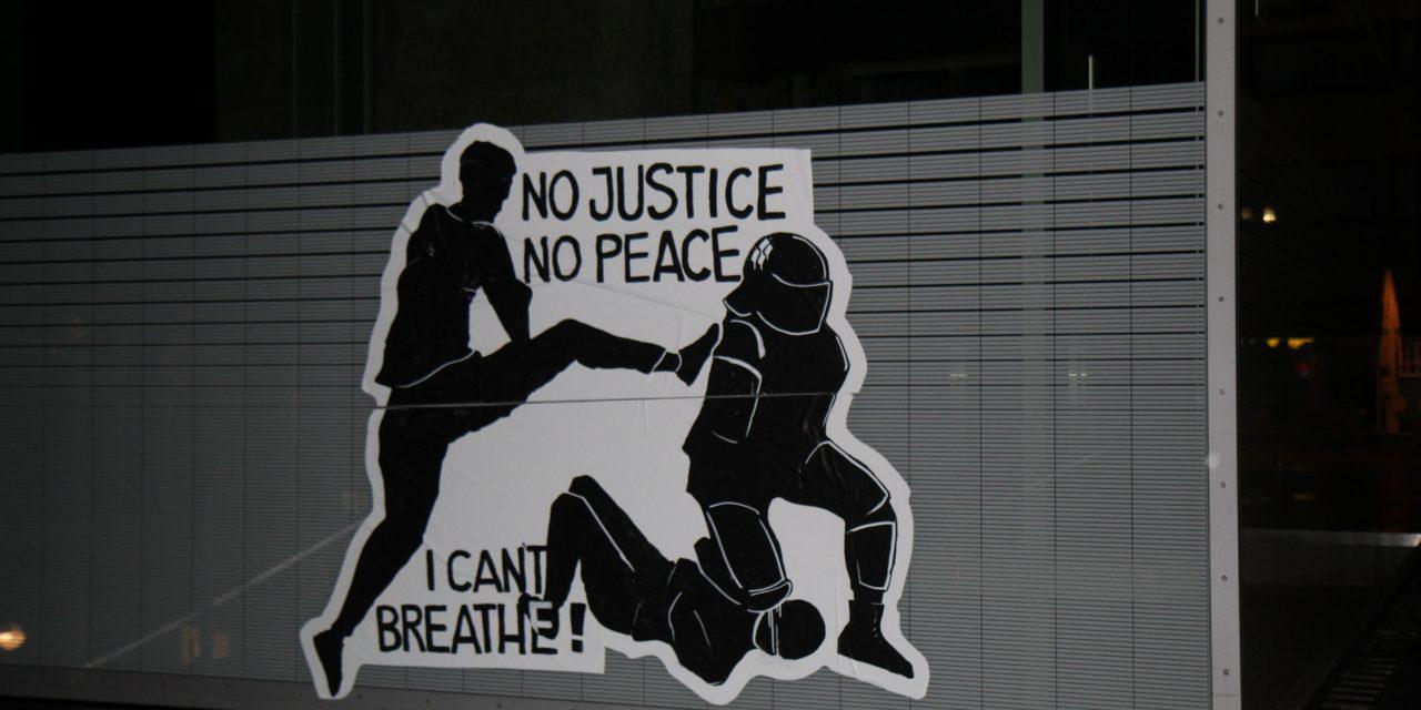 No justice no Peace! Ein Wandbild über die Stuttgarter Nacht