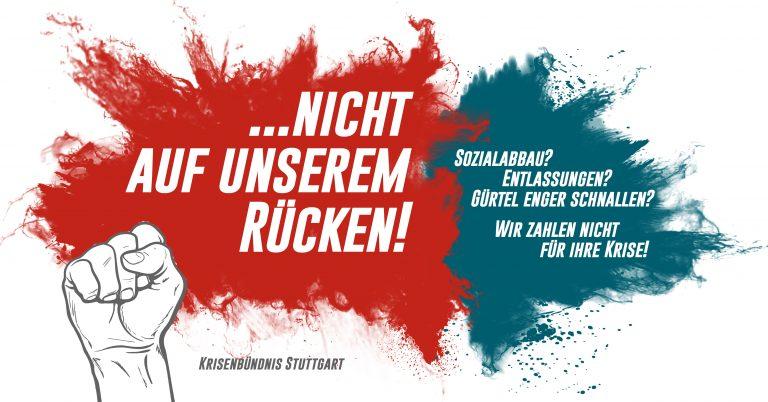 Krisendemo am 18. Juli in Stuttgart – Die Reichen sollen die Krise bezahlen!