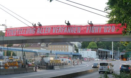 Banner-Drop gegen G20 Verfahren