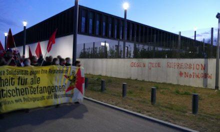 Spontandemo um den Knast in Stammheim – Gegen Knasturteile und Klassenjustiz
