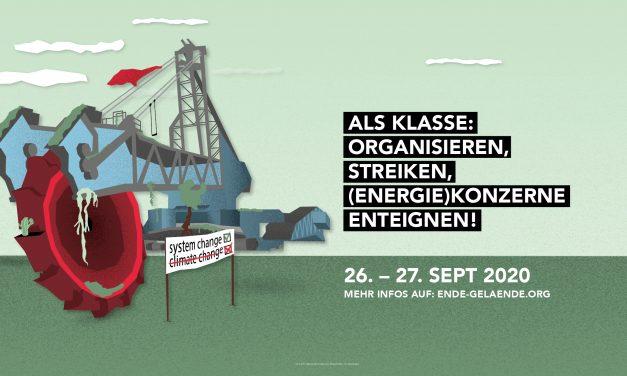 Organisieren, Streiken, (Energie)konzerne Enteignen! Kommt mit uns zu den Ende Gelände Aktionen am 26.-27. September