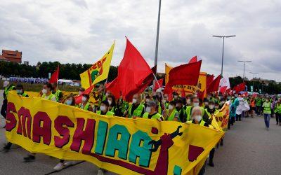 Nachbereitung und Video der Proteste gegen die IAA in München